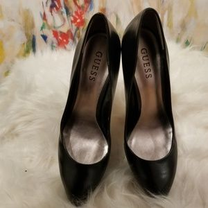 Guess Black Platform Stiletto Heels, Size 7.5